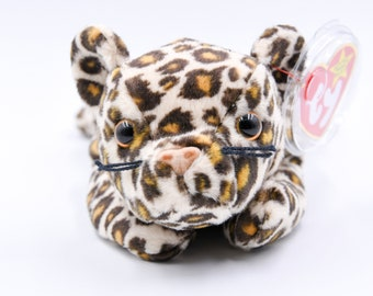3444a104b40 TY Beanie Baby Freckles the Leopard + 1996 + Retired + Very Rare + PE  Pellets + Charity