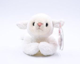 bcb78be16f9 TY Beanie Baby Fleece the Lamb Sheep + 1996 + Retired + Rare + PVC Pellets  + Tag Errors + Charity