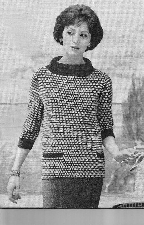Hand Knit Sweater Pattern | Etsy