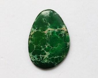 Green Variscite Sea Sediment Jasper Cabochon Pendant