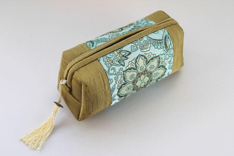 Travel Bag Pencil Case Silk Brocade Make Up Bag Comestic Bag Gadget Bag