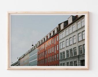 Copenhagen Travel Photography Print, Denmark Wall Art, Pastel Architecture Minimalist Wall Art Print, Modern Scandinavian Wall Decor
