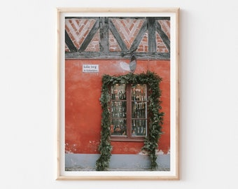 Malmo City Print, Street Wall Art, Old Town Photography Print, City View Art, Sweden Architecture Photo Poster, Travel Living Room Decor