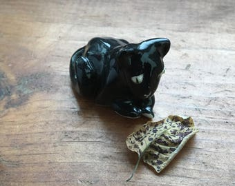 Ceramic Black Cat Window seat Home Decor Mini Sculpture jewelry bench assistant good luck charm therapy kitty item #425CFYAS