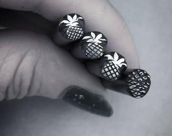 Pineapple Stamp Handcarved Steel Tool