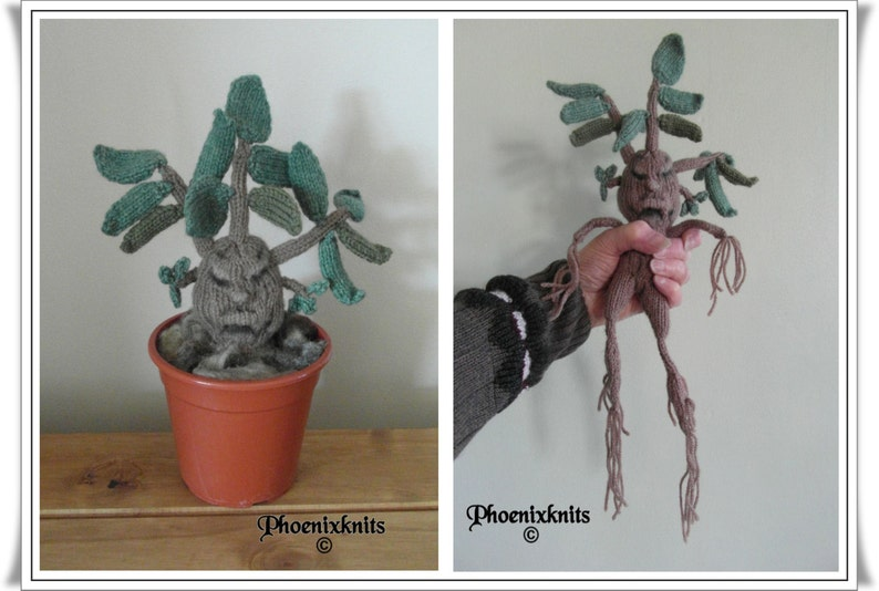 Mandrake Plant  :  Knitting pattern only IMMEDIATE DOWNLOAD image 0
