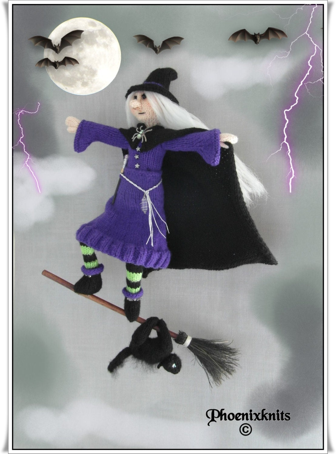 Luxury Witch Knitting Pattern Component - Sewing Pattern for Wedding ...