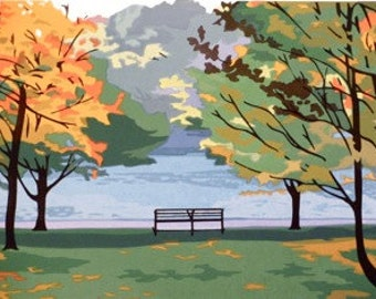 By the Reservoir II, limited edition serigraph