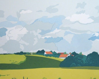 In France- Loire Valley, limited edition serigraph
