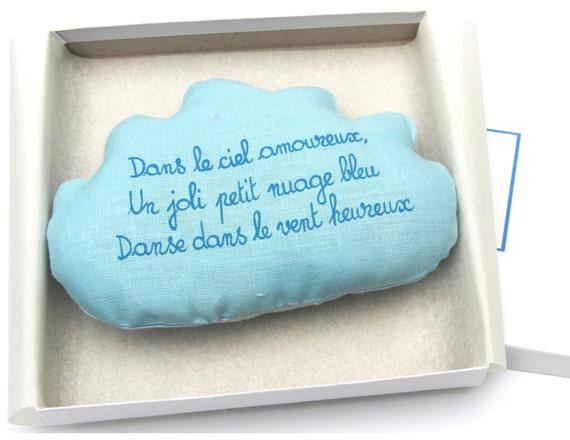Gedicht Nieuwe Badkamer : Baby rammelaar wolk met frans gedicht. baby douche cadeau. etsy