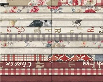 Wilmington Prints Farmhouse Chic Danhui 40 Karat Crystals Fabric Strips - Design Roll with forty 2.5-Inch-Strips