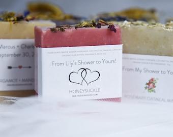 Soap Bar Favors Last Rose of Summer Soap Bridal Shower Favors Wedding Soap Favors