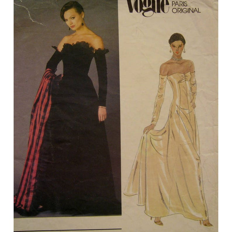 5346d0d5178 Nina Ricci Strapless Evening Gown Pattern Princess Seams