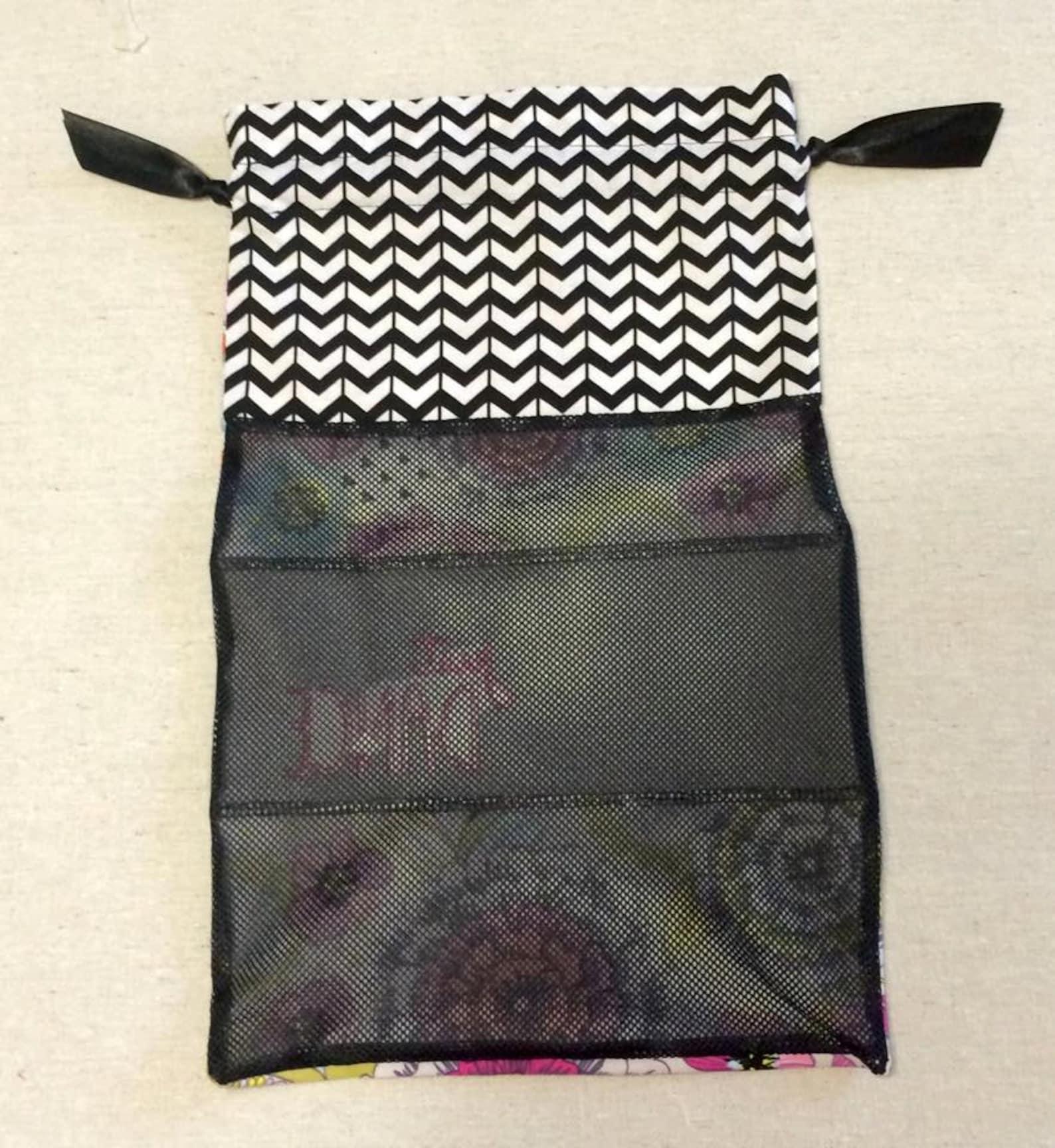 item(j3) personalized dance shoe bag just dance chevron pink floral black mesh ballet pointe jazz tap