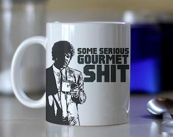 Some Serious Gourmet Shit - Pulp Fiction Movie - Color Accent Mug - Metallic Glitter Mug - 11oz or 15oz