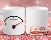 Shitter 39 s Full - Christmas Vacation Inspired - Color Accent Mug - Metallic Glitter Mug - 11oz or 15oz