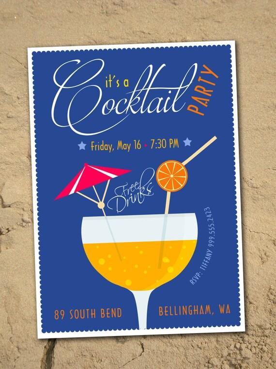 Cocktail Party Einladung Digitale Download
