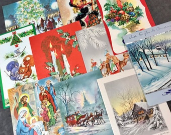 Vintage Christmas Card Collage Pack