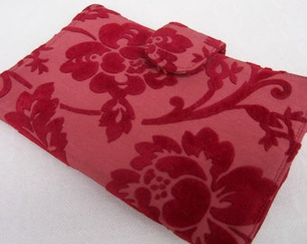 Wallet - Red Fabric