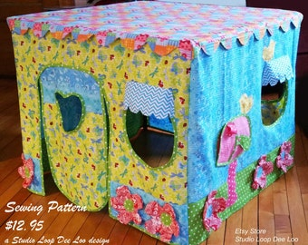 PATTERN for Cozy Posy Cottage, Card Table Playhouse