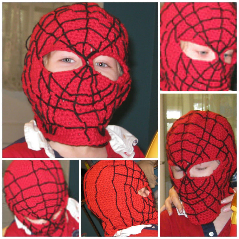 Crochet Pattern Spider Man Mask Balaclava Hood Face Mask Etsy