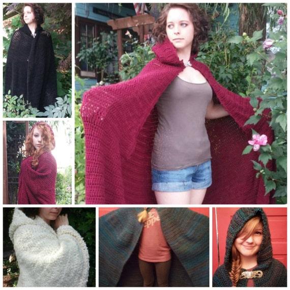 Crochet Full Length Cloak Pattern Pdf Pattern Sca Faires Etsy
