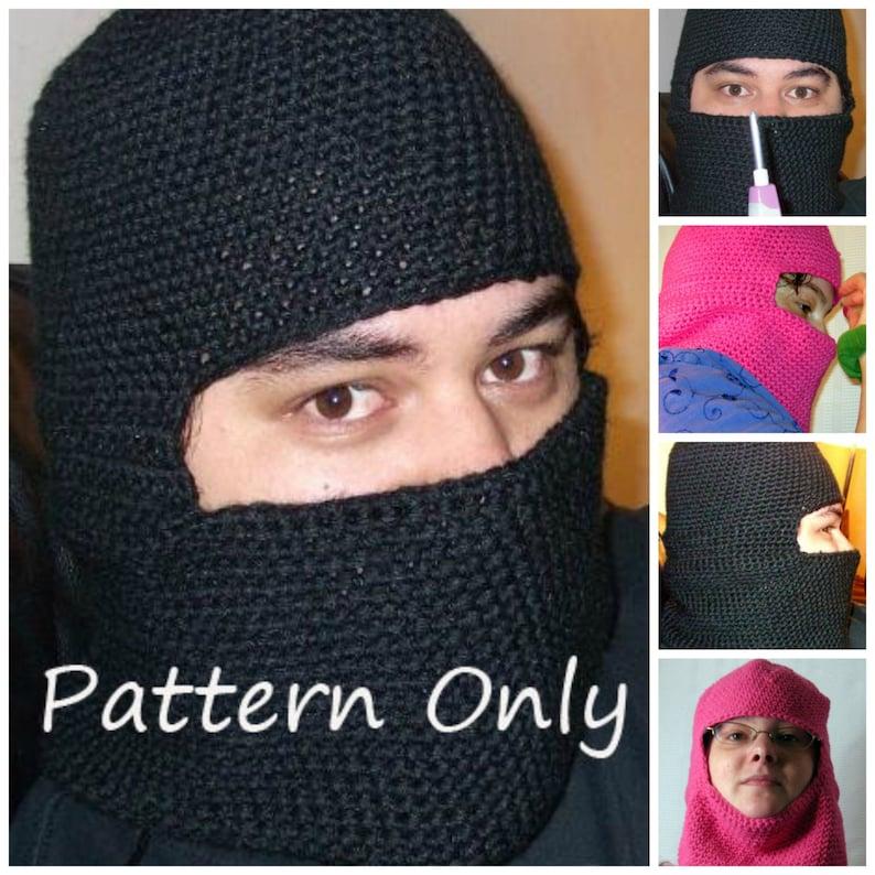 Crochet Balaclava Riding Hood Ski Mask Ninja Mask Pattern Etsy