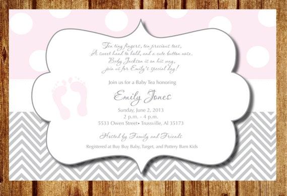Pink footprints baby shower invitation etsy image 0 filmwisefo