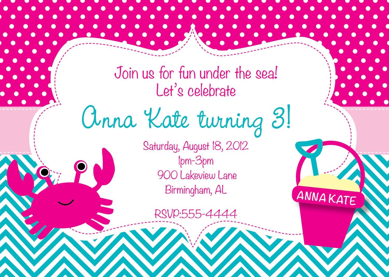 Under the Sea Birthday Invitation   Etsy