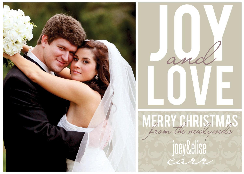 Newlywed Christmas Card | Etsy