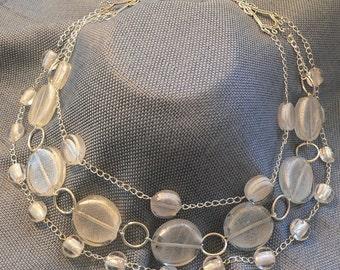 Shimmering Beauty - Misty Glass Beads Necklace