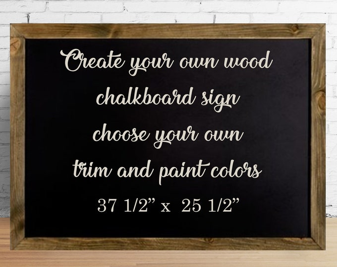 Create your own custom wood chalkboard paint sign