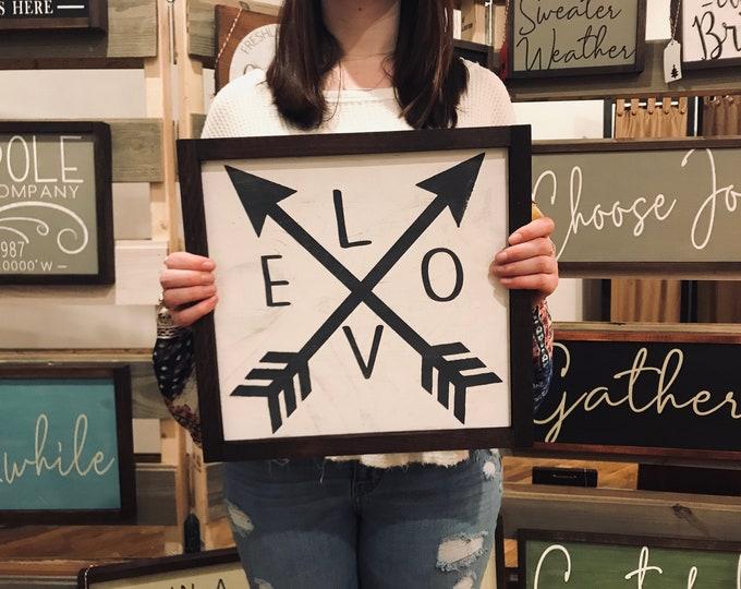 Love Arrow Chalkboard Paint Sign