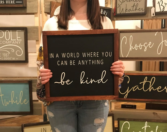 Be Kind Chalkboard Paint Sign