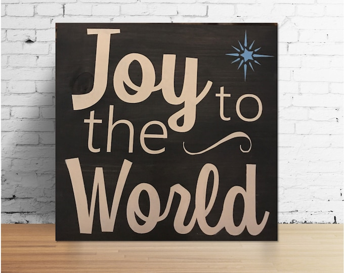 Joy to the World Wood Star Sign