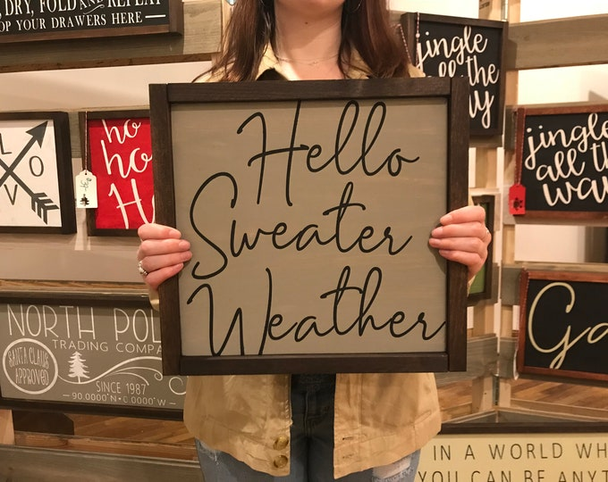 Sweater Weather Chalkboard Paint Sign