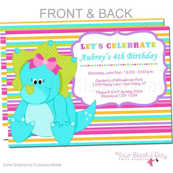Girl dinosaur party invitations dinosaur birthday invitation etsy image 0 filmwisefo
