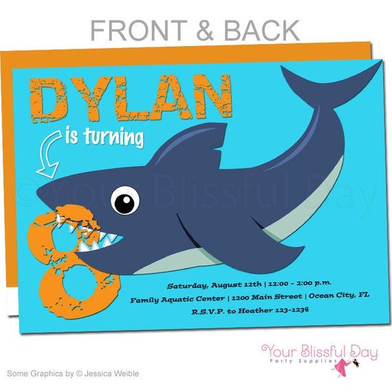 shark party invitations shark birthday party invitations shark