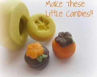 22pcs Kawaii Swirl Lollipop Clay Twist Flatbacks Candy Cabochon Jewelry DIY