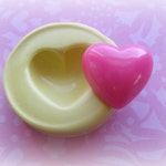 Heart Flexible Mold Small Heart Silicone Mold Resin Polymer Clay Heart Love Flower Moulds
