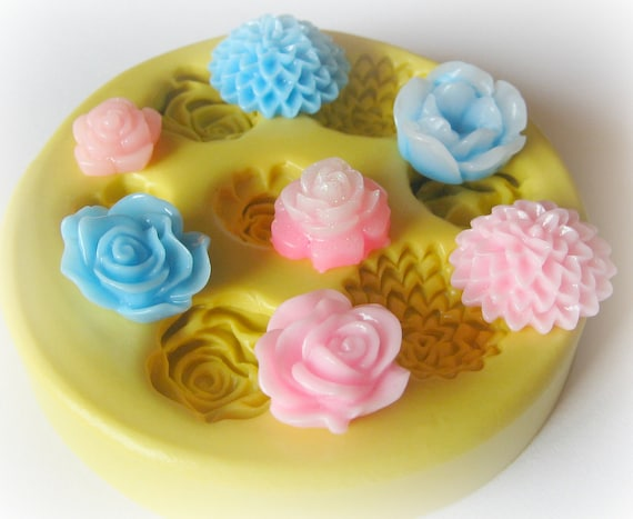 Cabochon Mold Resin Clay Silicone Flexible Flower Mould