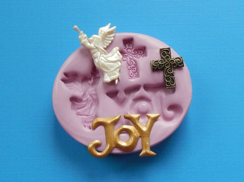 Christmas Mold Clay Molds Chocolate Mold Resin Molds Angel image 0