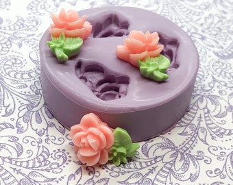 Tiny Rose Flower Mold Fairy Flowers Miniature Flower Mold Cabochon DIY Fondant Mold Resin Clay Mould Polymer Clay