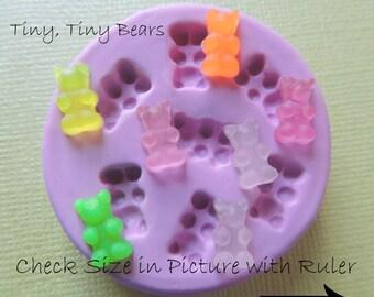 TINY Gummy Bear Mold DIY Dollhouse Bear Mold polymer Clay Resin Silicone MOld