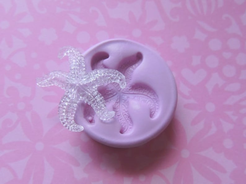 DIY Jewelry Charm Starfish Earring Mold Jewelry DIY Small Clay image 0