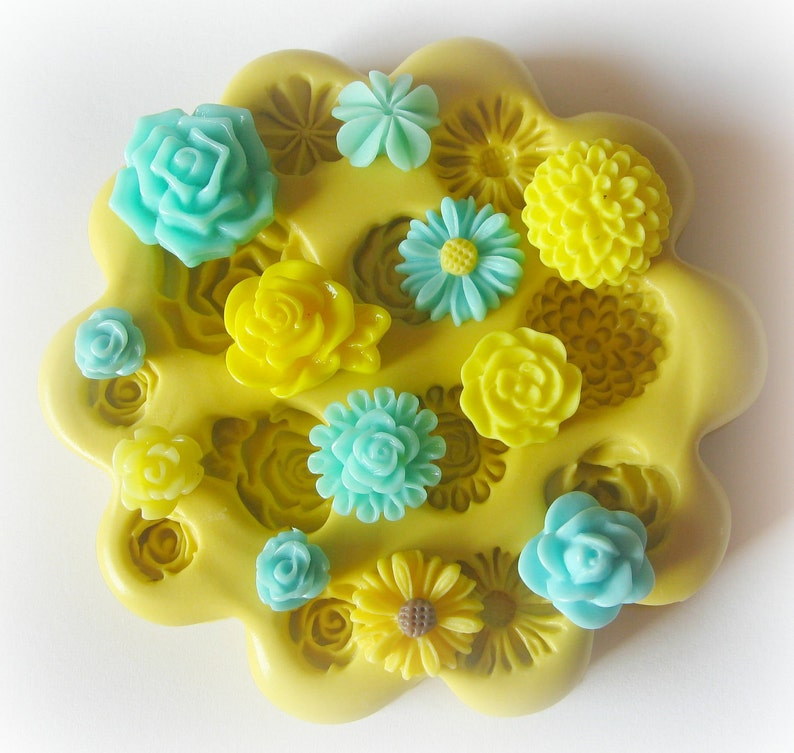 Silicone Flower Mold Tiny Flowers DIY Earrings Resin Flower image 0
