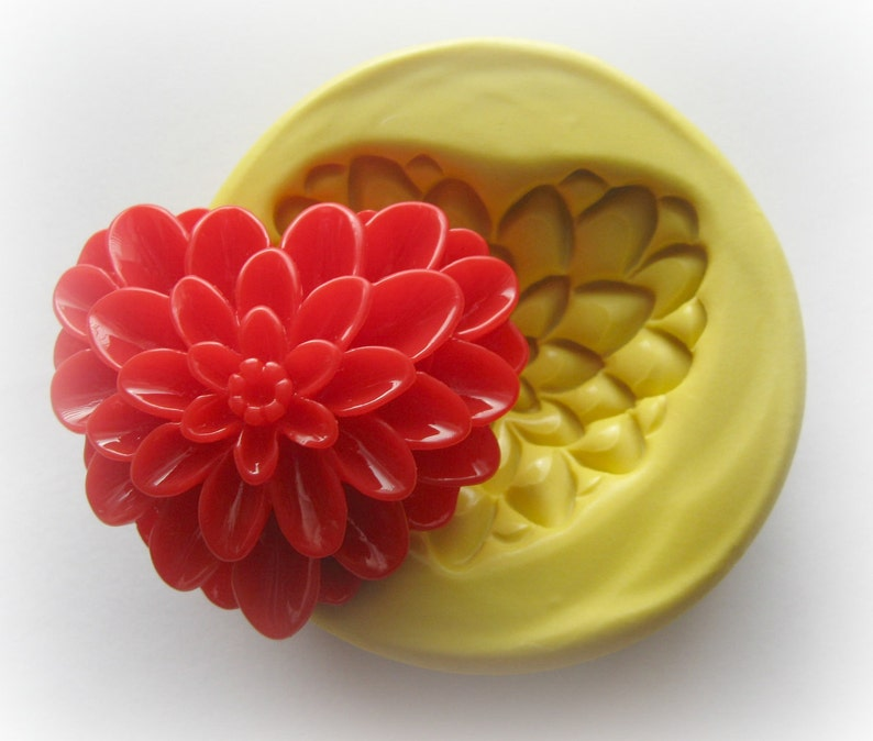 Heart Mold Flower Mold Resin Clay Mum Mould Cabochon Fondant image 0