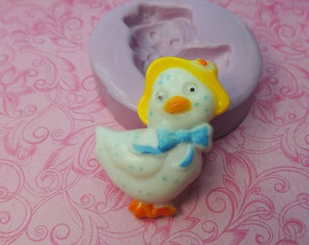 Vintage Chick Mold, Silicone Mold, Clay Chick Molds, Fondant Mold, Chocolate, Butter, Wax, Resin Molds, Soap, Easter Mold