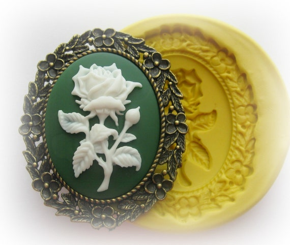 Flower Cameo Mold Silicone Cameo Frame Flexible Mould Polymer