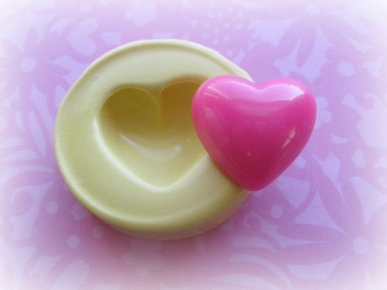 Heart Flexible Mold Small Heart Silicone Mold Resin Polymer image 0